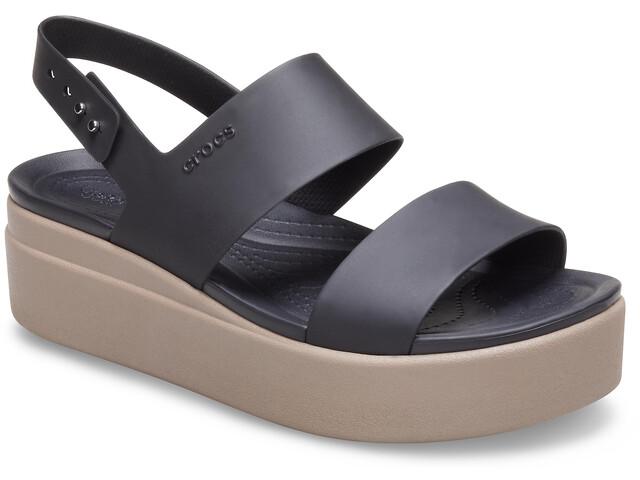Crocs Brooklyn Low Wedge Zapatillas Mujer, black/mushroom